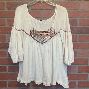 Free People Boho Top Embellished S blouse (3H48)